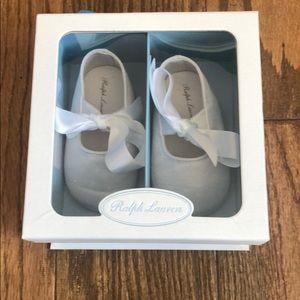 Ralph Lauren satin baby shoes